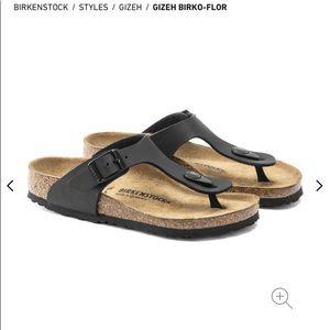 Birkenstock women's black thongs - size 36 EUC
